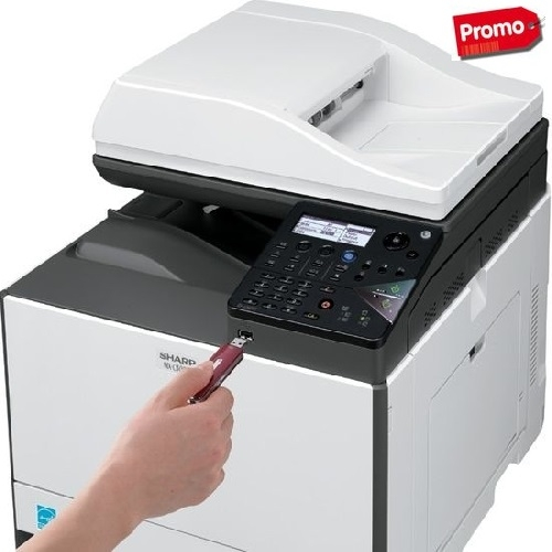 SHARP MX-C300W - Multifunzione A4 a colori da 30 ppm - Wireless
